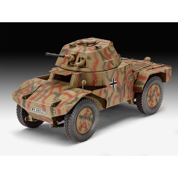 Véhicule Scout Blindé P 204 (f) Un kit de construction modèle du Panhard français 178 un véhicule de butin qui a été utilisé com