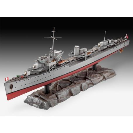 Destroyer Allemand Type 1936. La quasi-totalité des six destroyers de type 1936 ont été envoyés à Narvik, en Norvège, en 1940 po