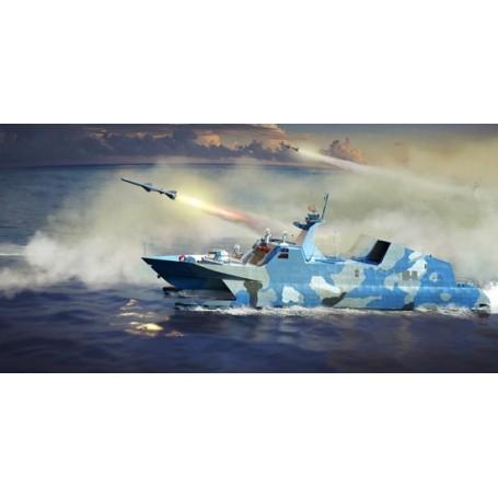 PLA Navy type 22 Missile Boat.Type de 22 bateaux de missiles est une nouvelle génération de bateaux de missiles de la marine ch