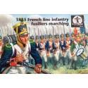 1815 Français Infanterie de Ligne Fuseliers marche x 24 pièces