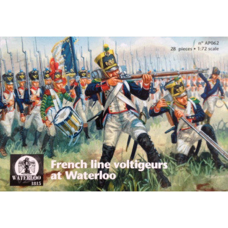Français Ligne à Waterloo Voltigeurs x 28 pièces