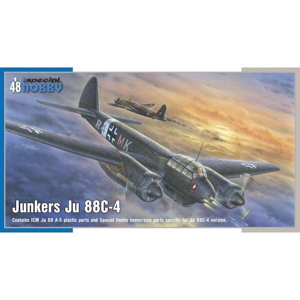 Junkers Ju-88C-4 Intruder de nuit.Dans les années avant le déclenchement de WW2, la Luftwaffe allemande a mis en service deux c