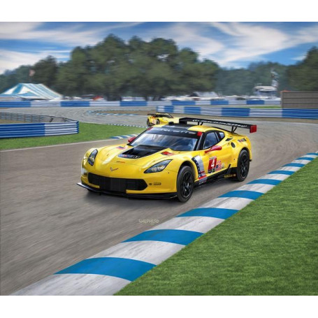 Corvette C7.R Un kit de construction de modèle facile à construire de cette voiture de course GT réussie qui parmi d'autres a re