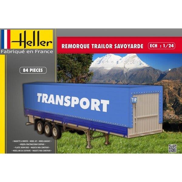 HELLER 80771 1/24 - REMORQUE TRAILOR SAVOYARDE