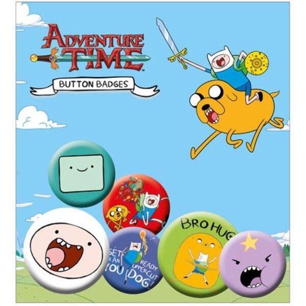 Adventure Time pack 6 badges Finn