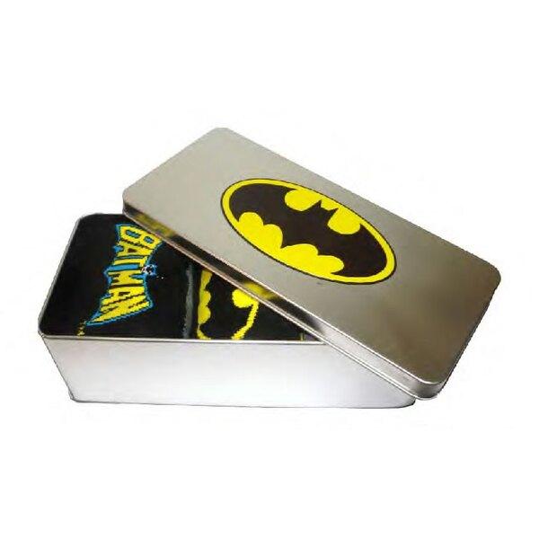 Batman pack 3 paires de chaussettes avec boite métal
