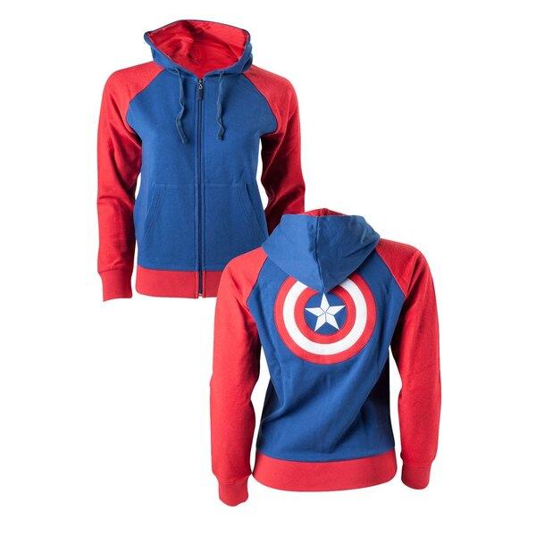 Captain America sweater à capuche fille Shield Logo
