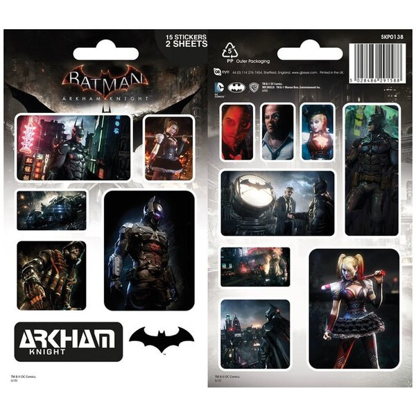 Batman Arkham Knight pack de stickers vinyle Characters (10)