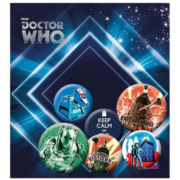 Doctor Who pack 6 badges Retro