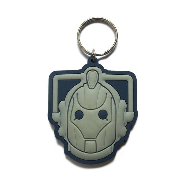Doctor Who porte-clés caoutchouc Cyberman 6 cm