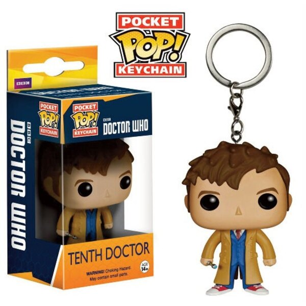 Doctor Who POP! Vinyl porte-clés 10th Doctor 4 cm
