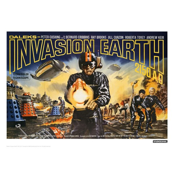 Doctor Who lithographie Invasion Earth Landscape 42 x 30 cm