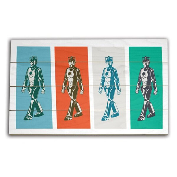 Doctor Who tableau bois Walking Cyberman 45 x 76 cm