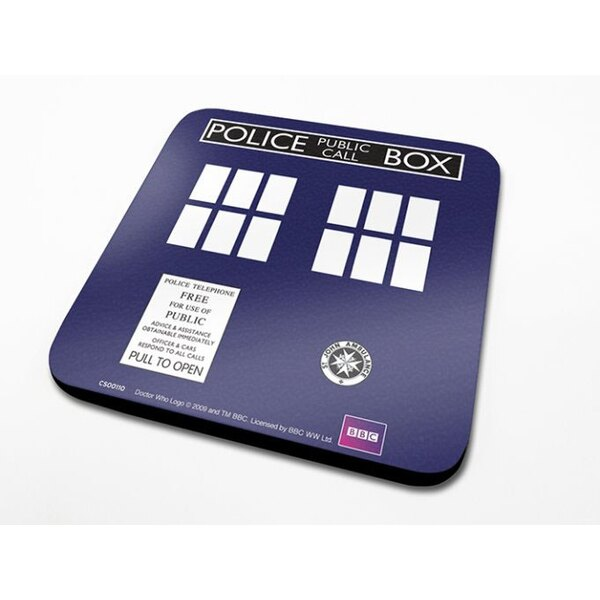 Doctor Who pack 6 sous-verres Tardis