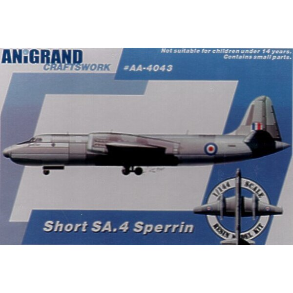 Short SA.4 Sperrin. Inclut maquettes en prime de Gloster Javelin Hawker P.1127 & Short SB.5. Depuis la fin de la deuxième Guerre
