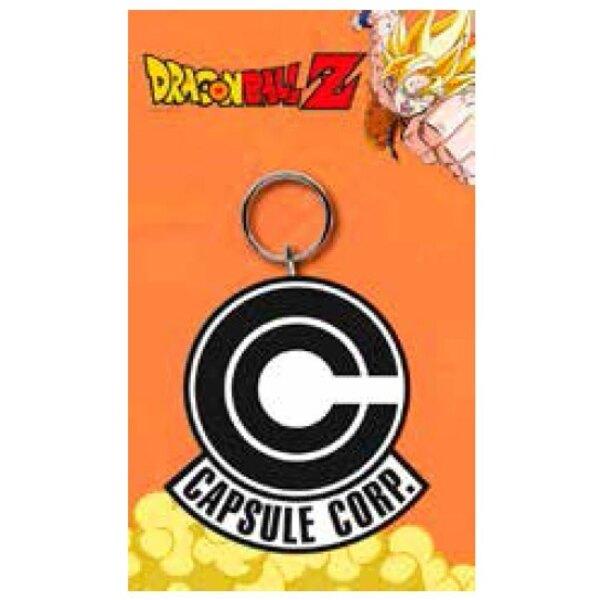 Dragonball Z porte-clés caoutchouc Capsule Corp 7 cm