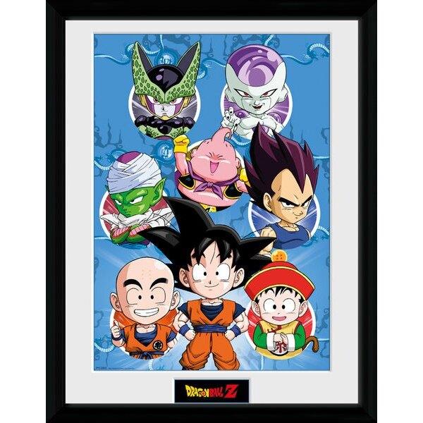 Dragonball Z poster encadré Chibi Characters 45 x 34 cm