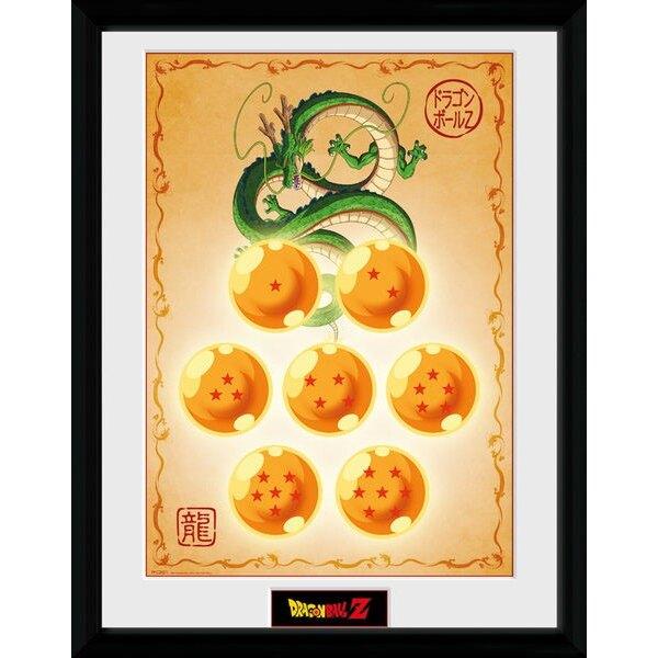 Dragonball Z poster encadré Dragon Balls 45 x 34 cm