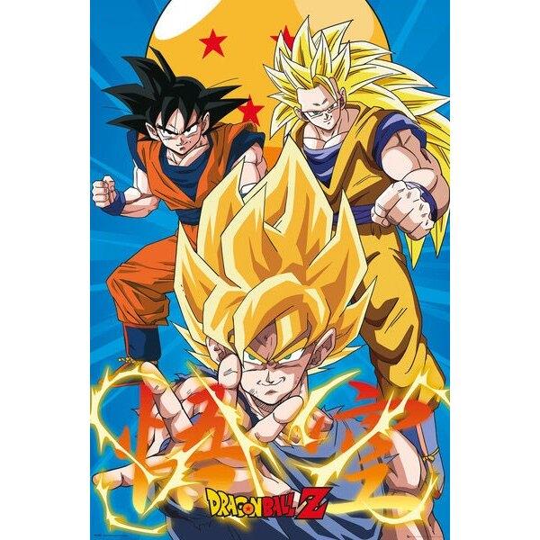 Dragonball Z pack posters 3 Gokus Evo 61 x 91 cm (5)