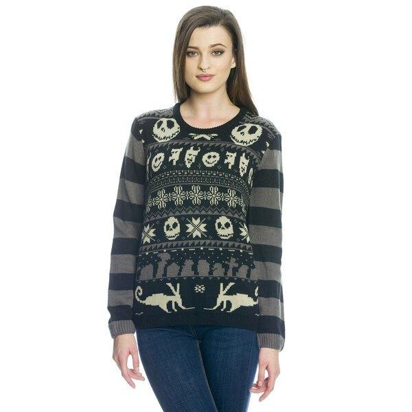 L´étrange Noël de Mr. Jack Sweater en maille femme XMAS