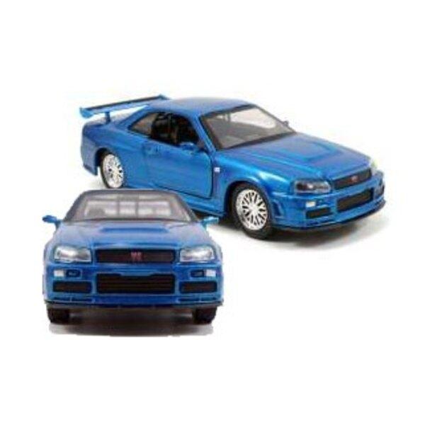 Fast & Furious 1/32 2002 Nissan Skyline GTR R34 *bleu* métal