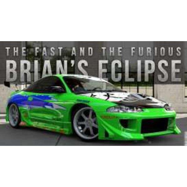 Fast & Furious 1/32 1995 Brians Mitsubishi Eclipse métal