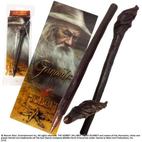 Le Hobbit set stylo à bille et marque-page à effet 3D Gandalf