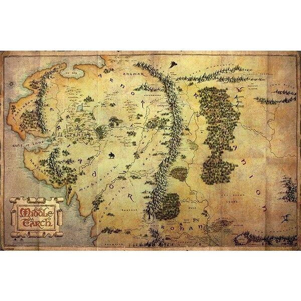Le Hobbit Un voyage inattendu pack posters Journey Map 61 x 91 cm (5)