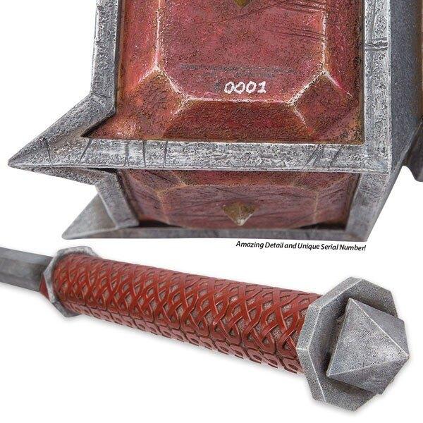 Le Hobbit La Bataille des Cinq Armées réplique 1/1 marteau de Dain Ironfoot 89 cm