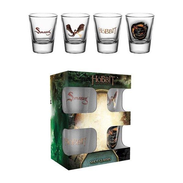 Le Hobbit La Bataille des Cinq Armées Set 4 verres à liqueur