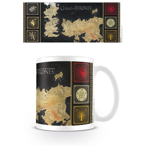 Le Trône de fer mug Map