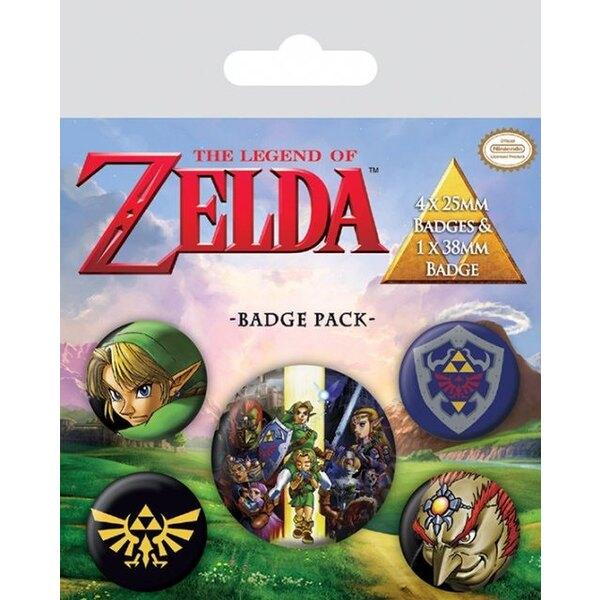 The Legend of Zelda pack 5 badges Link