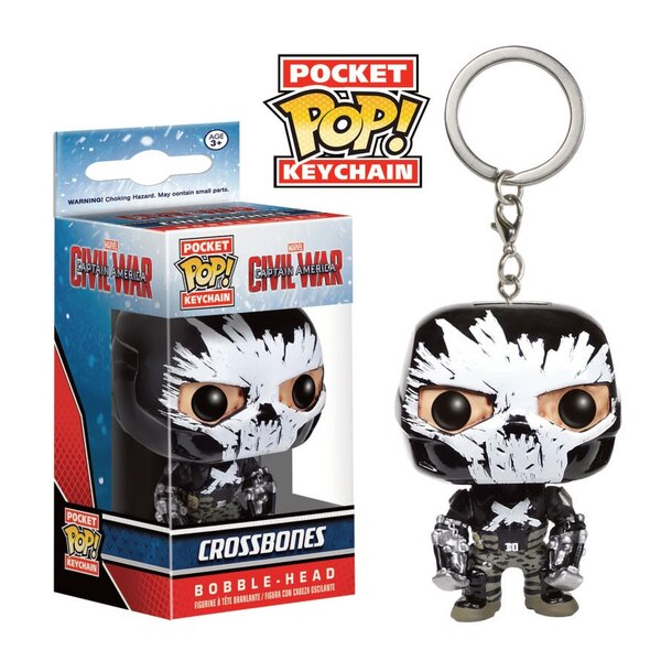 Captain America Civil War porte-clés Pocket POP! Vinyl Crossbones 4 cm