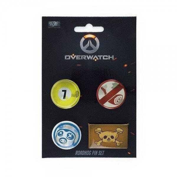 Overwatch pack 4 badges Roadhog