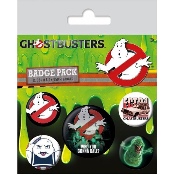 SOS Fantômes pack 5 badges Who You Gonna Call