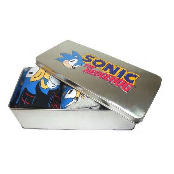 Sonic the Hedgehog pack 3 paires de chaussettes avec boite métal