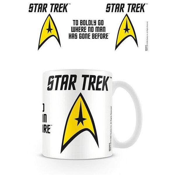Star Trek mug To Boldly Go