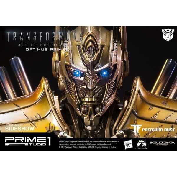Transformers L´Age de l´extinction buste Optimus Prime Gold Version 18 cm