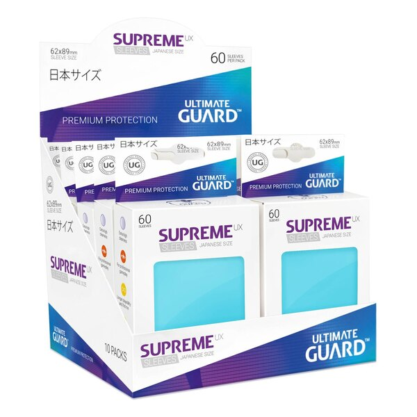 Ultimate Guard 60 pochettes Supreme UX Sleeves format japonais Aigue-marine