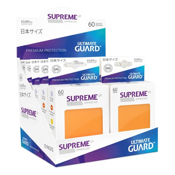 Ultimate Guard 60 pochettes Supreme UX Sleeves format japonais Orange