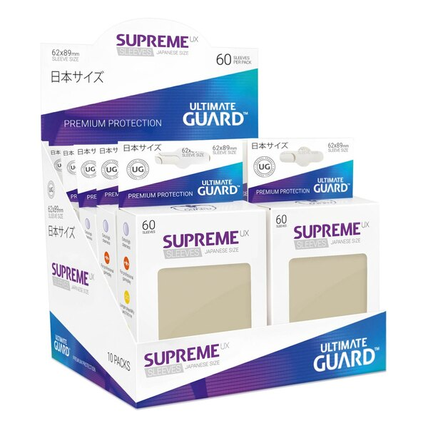 Ultimate Guard 60 pochettes Supreme UX Sleeves format japonais Sable