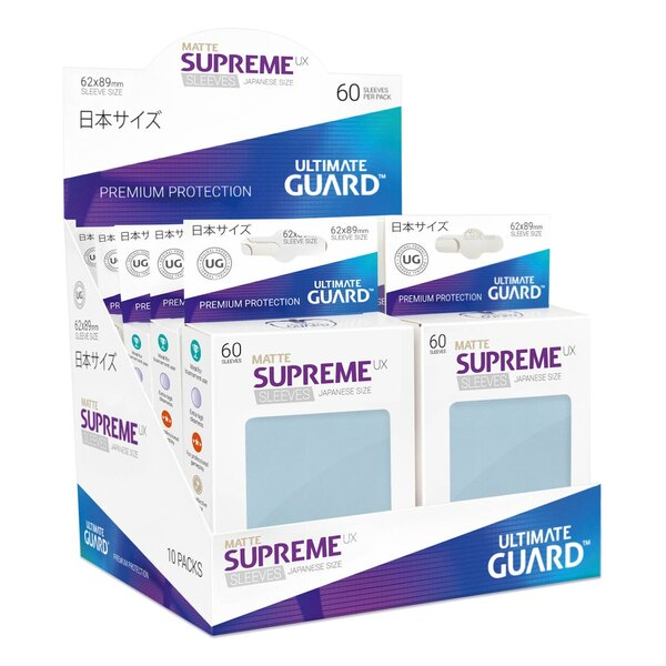 Ultimate Guard 60 pochettes Supreme UX Sleeves format japonais Transparent Mat