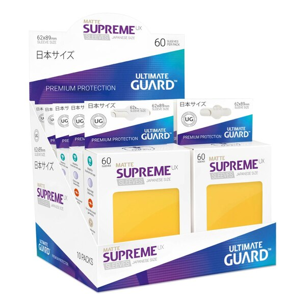 Ultimate Guard 60 pochettes Supreme UX Sleeves format japonais Jaune Mat