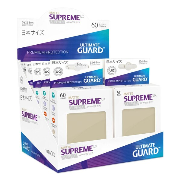 Ultimate Guard 60 pochettes Supreme UX Sleeves format japonais Sable Mat