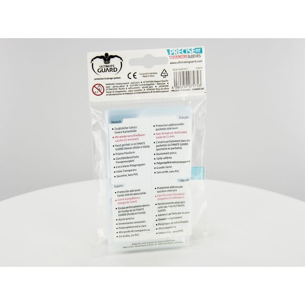Ultimate Guard 100 pochettes refermables Precise-Fit Sleeves taille standard Transparent