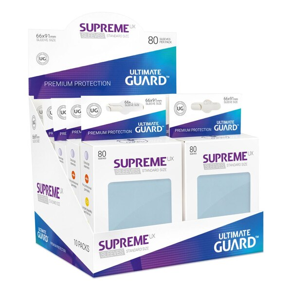 Ultimate Guard 80 pochettes Supreme UX Sleeves taille standard Transparent