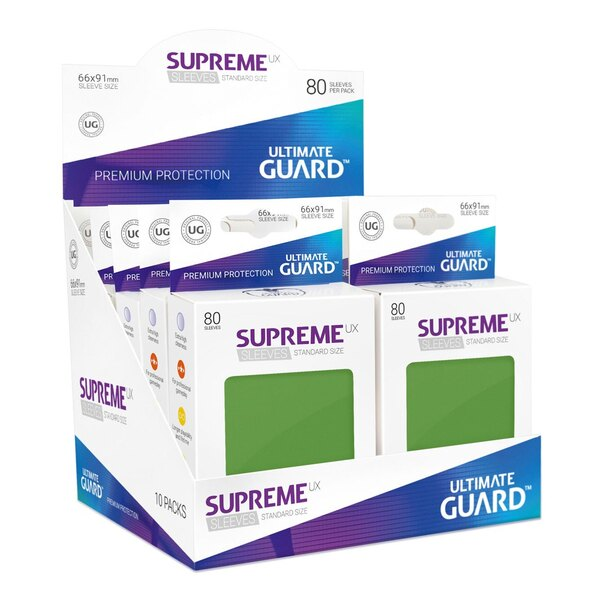 Ultimate Guard 80 pochettes Supreme UX Sleeves taille standard Vert