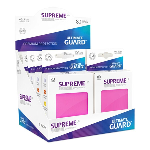 Ultimate Guard 80 pochettes Supreme UX Sleeves taille standard Rose