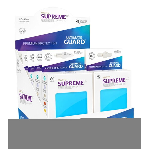 Ultimate Guard 80 pochettes Supreme UX Sleeves taille standard Bleu Clair Mat