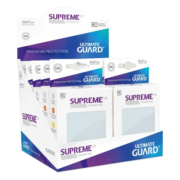 Ultimate Guard 80 pochettes Supreme UX Sleeves taille standard Frosted